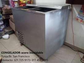 Congelador en acero inoxidable