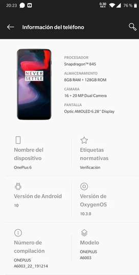 Vendo one plus 6  perfecto  estado  10/10