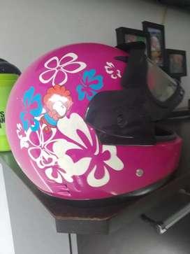 Casco moto para niña hasta 9 años marca risk helmet