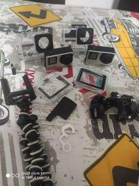 Gopro Hero 4 Silver con varios accesorios