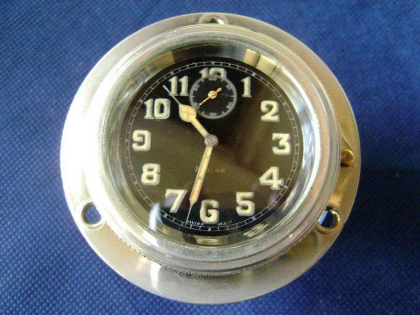 Reloj c1930 suizo 8 días para Avión o Automóvil funcionando / Maxim Nord 0