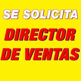 Se solicita Director de Ventas