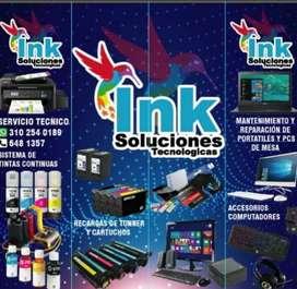 Mantenimiento Computadores y impresoras distribuidora directo de tintas Originales y genéricas para  tipo de impresora