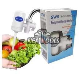 Filtro Purificador De Agua Ceramico + Carbon Activado Remueve 99% de impureza p Canilla Cocina
