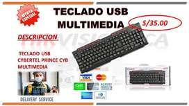 TECLADO USB MULTIMEDIA