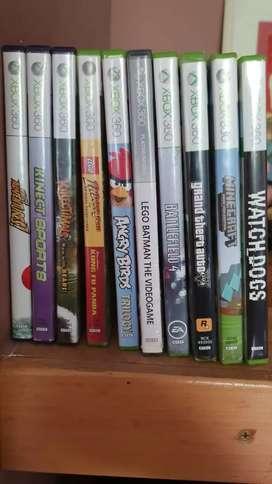 Xbox 360Slim Sin Chipear Disco duro 250gb-11 juegos-2 joysticks-Kinect-Transformador segunda mano  Bahía Blanca, Buenos Aires