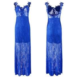 Vestido Azulino de Encaje