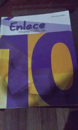 Libro el Enlace Matemáticas grado décimo de Educar