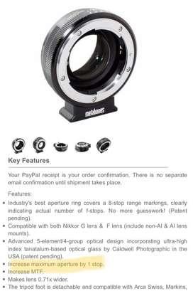 Adaptador Metabones Speed Booster Nikon a Sony E Mount NUEVO