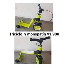 Triciclo y monopatin
