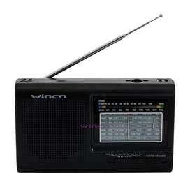 Radio Am/fm 9 Bandas Dual 220v Y Pilas Winco W2005 segunda mano  Monserrat, Capital Federal