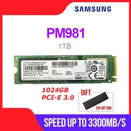 disco solido SAMSUNG M.2 PM981 1TB, M2 NVMe PCIe 3,0, para LAPTOP o PC