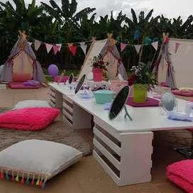 Alquiler de picnic para aniversarios, cumpleaños, spa party