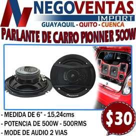 PARLANTE DE CARRO PIONNER 500W IDEAL PARA CUALQUIER TIPO DE VEHICULO MODE DE AUDIO EN 2 VIAS