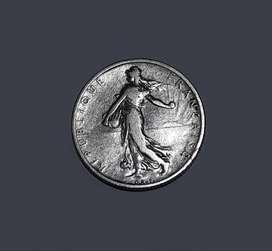 Moneda francesa de plata, 1899, 2 francos, 10 g, F
