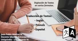 Servicio de Traduccion y Digitacion de Textos