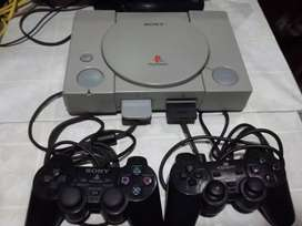 Playstation 1 Fat 5 juegos 2 joysticks