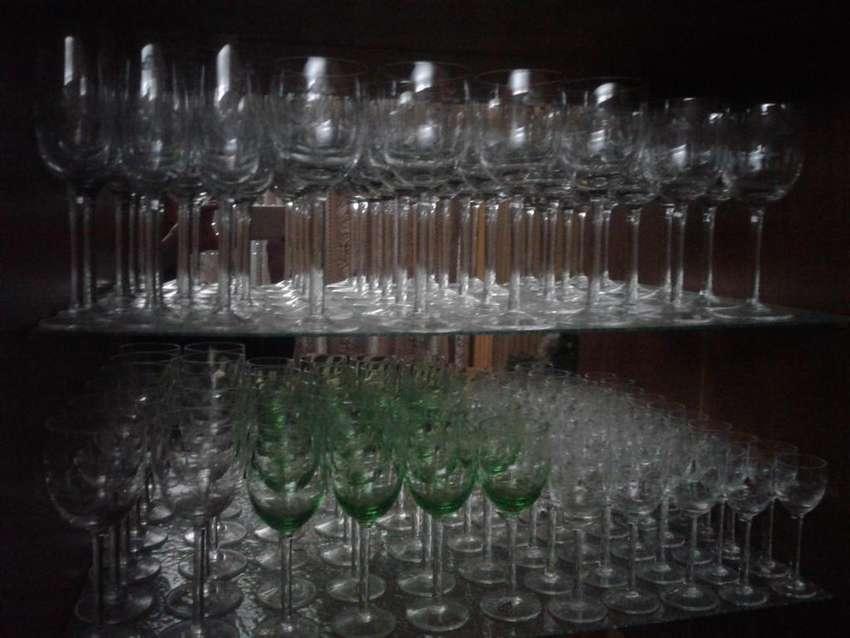 juego de copas de cristal 0