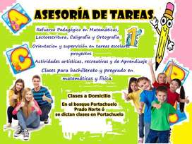 ASESORIA DE TAREAS, BASICA, PRIMARIA, BACHILLERATO