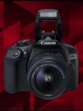 Cámara Canon T6 Rebel + trípode