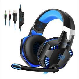 Audifonos Diadema Gamer Kotion G2000 Con Microfono Usb Y Led Tus Juegos, Tus Sonidos, Tu Música,
