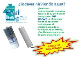 Mantenimiento de filtros y purificadores de agua