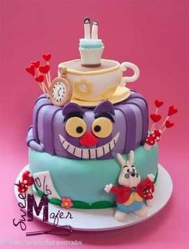 Se realiza todo tipo de tortas para distintas clases de eventos , ya sea quince años , bautizo , cumpleaños , etc .