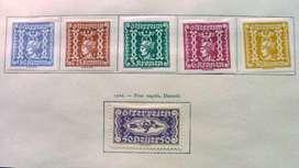 Sellos postales de Austria 1921 – 1922