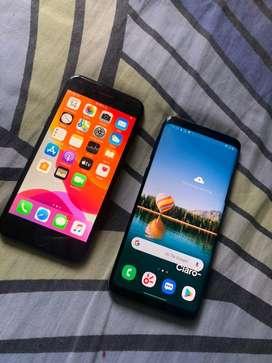 Samsung s9 y iphone 7 por iphone x