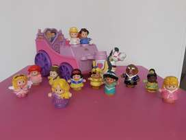 Carruaje Little People Juguete Princesas Disney