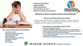 Problemas de estudio, deficit de atencion, Hiperactividad