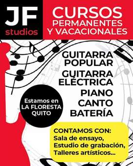 CANTO, GUITARRA, BAJO, BATERIA, PIANO... Clases a domicilio...