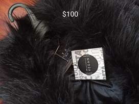 Abrigo de cuero talla XL