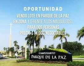 Terreno Parque de la Paz