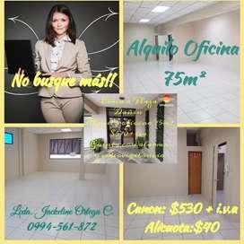 Oficina 75m2 cerca a Plaza Dañin 570