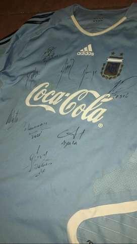 Camiseta de entrenamiento de Argentina Adidas firmada por Jugadores