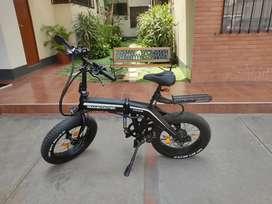 Bicicleta eléctrica plegable SMASCOOTER modelo SY05-20350 más accesorios