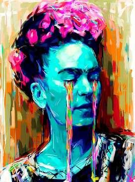 Frida Lienzografia Impresion Lienzo Reproduccion 60x90 arte