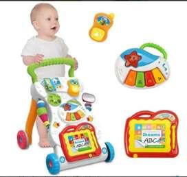 Andadera 2 en 1 Para Bebes Y niños Luces Sonidos Tablero Didáctico