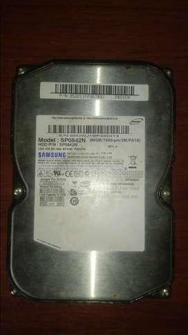 vendo disco duro de 80GB en muy buen estado