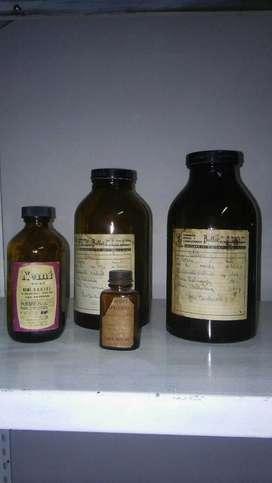Lote Frascos de Farmacia Antiguos