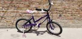 Bici rodado 16 con rueditas usada en estado