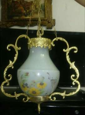 Antigua Lámpara de Quinque de Bronce