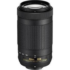 Lente Nikon AF-P NIKKOR 70-300MMF/4.5-5.6E ED