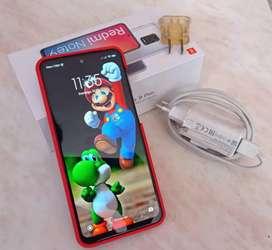 Xiaomi redmi note 9 pro 128/6 caja + cargador+ case rojo