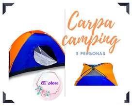 Carpa camping 3 personas