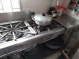 Cocina industrial 5puestos en acero