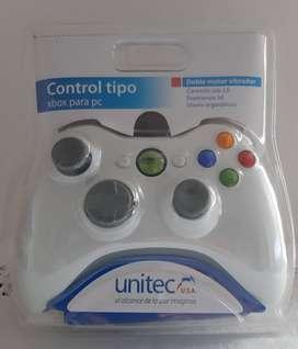 control tipo xbox para pc unitec  uc-708