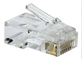 Conectores Rj45 Para Cable Utp Cat5 Bolsa 100 Unidades