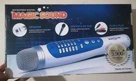 Se vende, micrófono karaoke 5000 canciones en español y 4000 en ingles